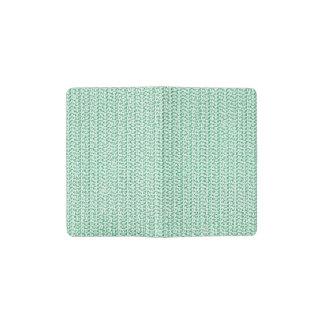 Seafoam Green Weave Look Pocket Moleskine Notebook Cover With Notebook