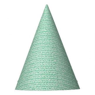 Seafoam Green Weave Mesh Look Party Hat