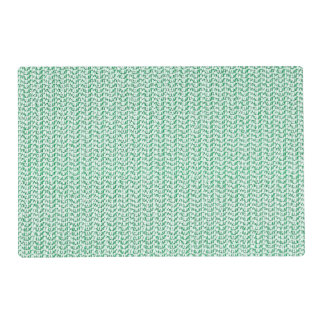 Seafoam Green Weave Mesh Look Placemat