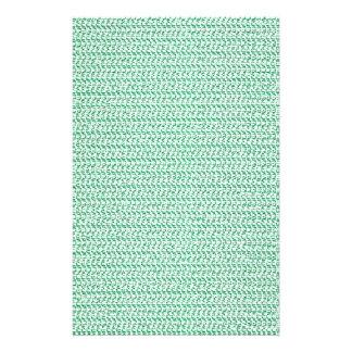 Seafoam Green Weave Mesh Look Stationery