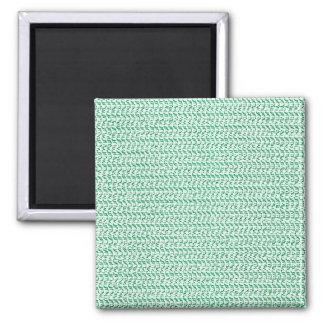 Seafoam Green Weave Pattern Image Magnet