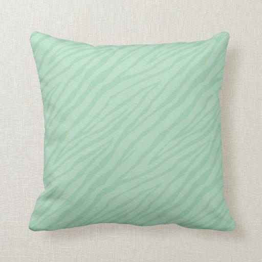 Throw Pillow Seafoam Green : Seafoam Green Zebra Print Throw Pillow Zazzle