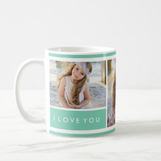 Seafoam I love You Photo Collage | Mug