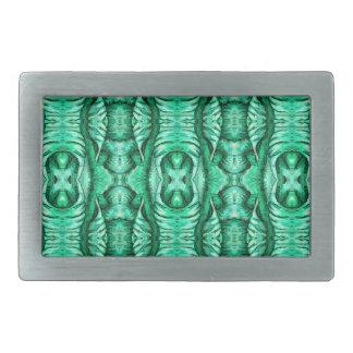 Seafoam Mint Green Dragon Lizard Reptile Scales Rectangular Belt Buckle