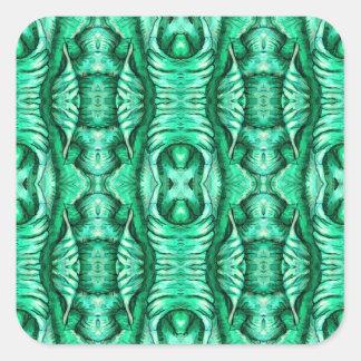 Seafoam Mint Green Dragon Lizard Reptile Scales Square Sticker