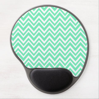 Seafoam Mint Green Zigzgag Pattern Gel Mouse Pad