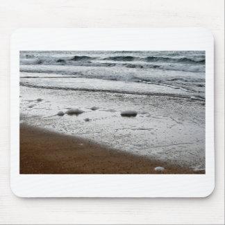 SEAFOAM ON BEACH QUEENSLAND AUSTRALIA MOUSE PAD