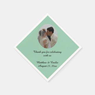 Seafoam personalizó servilletas de la foto del servilleta de papel