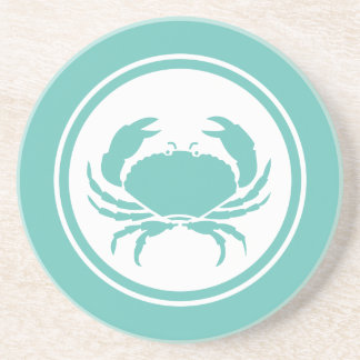 Seafoam Teal Green Crab Marine Creature coaster