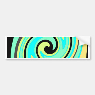 Seafoam Waves Car Bumper Sticker