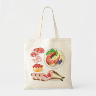 Seafood Tote Bags