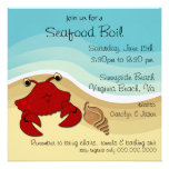 Seafood Boil Beach Party Invitation