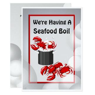 Seafood Boil Crab Lobster Dinner Invitation