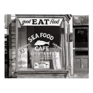 Seafood Cafe, 1937 Postcard