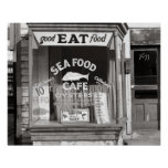 Seafood Cafe, 1937 Poster
