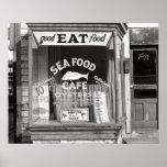 Seafood Cafe, 1937. Vintage Photo Poster