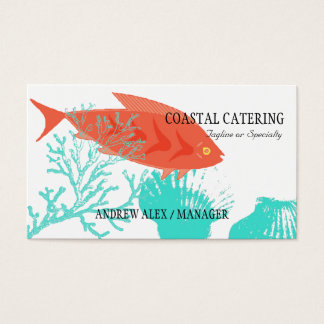 Seafood Catering Restaurant Chef Business Card