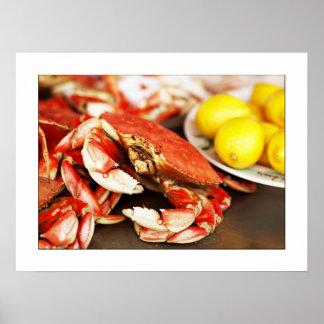 Seafood Crab Photograph Poster/print 24x19