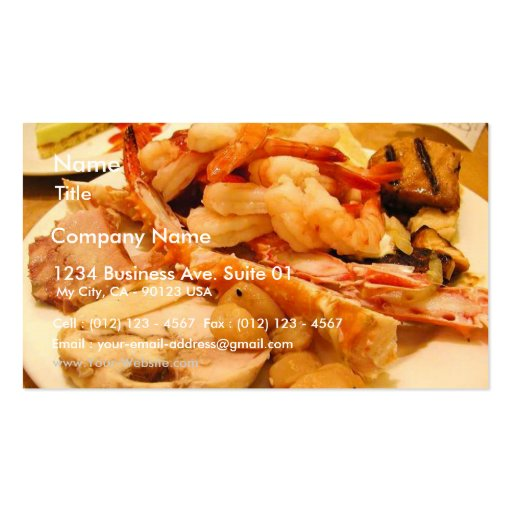 Sea food business card templates page2 bizcardstudio seafood crabs legs shrimp food business card templates colourmoves