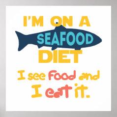 Seafood Diet Print