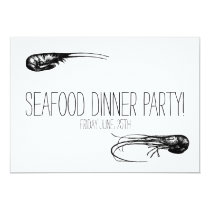 Seafood Dinner Party, Cocktails Delicacy Card