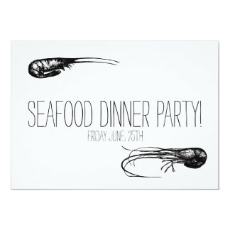 Seafood Dinner Party 5x7 Paper Invitation Card