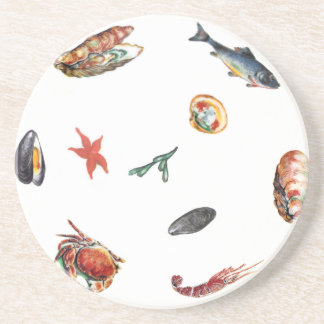 seafood drink coaster