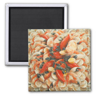 Seafood Extravaganza 2010 2 Inch Square Magnet