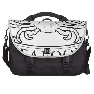 Seafood label commuter bags