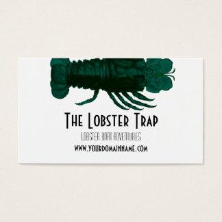 Seafood Lobster Business Card in Turquoise