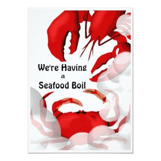 Seafood Lobster Crab Dinner Invitation