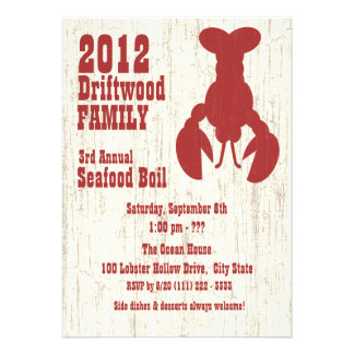 Seafood Lobster Red Invite