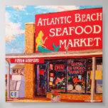 """Seafood Market"" Print"