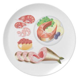 Seafood Melamine Plate