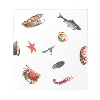 seafood notepad