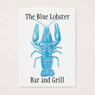Seafood or fishing theme business card