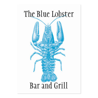 Seafood or fishing theme large business cards (Pack of 100)