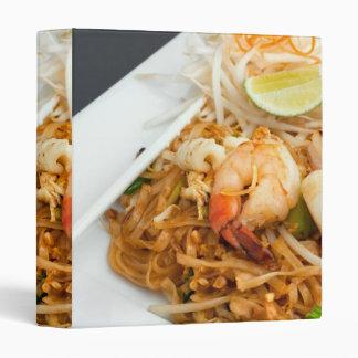 Seafood Pad Thai Fried Rice Noodles 3 Ring Binder