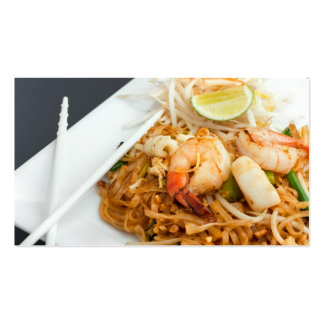 Seafood Pad Thai Fried Rice Noodles Business Card