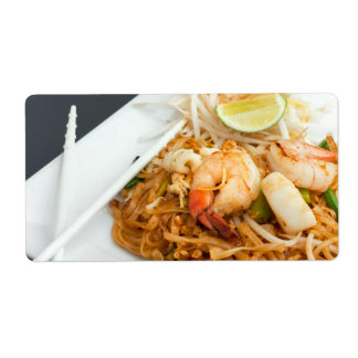 Seafood Pad Thai Fried Rice Noodles Shipping Label