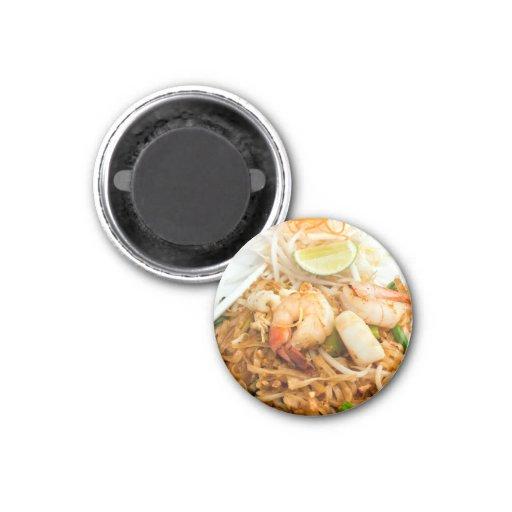 Seafood Pad Thai Fried Rice Noodles Fridge Magnet