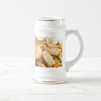 Seafood Pad Thai Fried Rice Noodles Coffee Mug