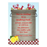 """Seafood Party 5"""" X 7"""" Invitation Card"""