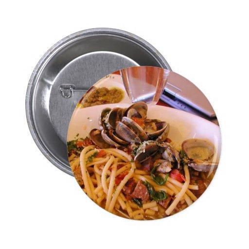 Seafood Pasta Clams Food Pin