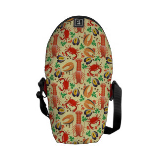 Seafood Pattern Courier Bag