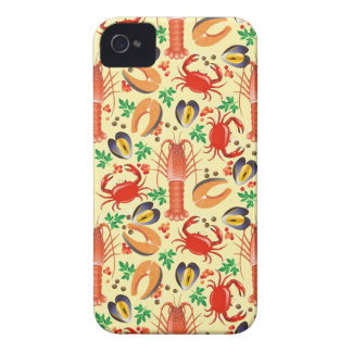 Seafood Pattern iPhone 4 Cover