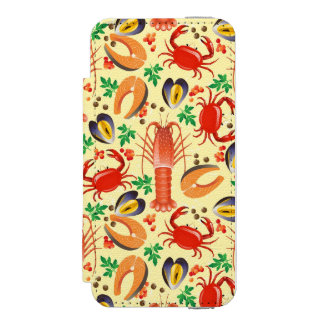 Seafood Pattern iPhone SE/5/5s Wallet Case