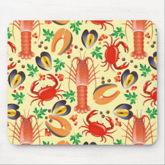 Seafood Pattern Mouse Pad