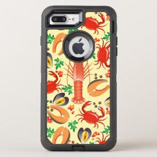 Seafood Pattern OtterBox Defender iPhone 8 Plus/7 Plus Case