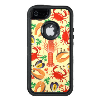 Seafood Pattern OtterBox Defender iPhone Case